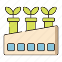 factory, green, green factory icon