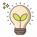 energy, green, green energy, innovation, light bulb icon