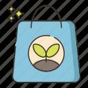 bag, organic, paper bag icon