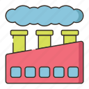 air pollution, factory, manufacturer, manufacturing plant, pollution, production icon