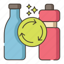 biodegradable, recycle, recycling icon