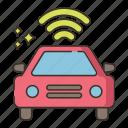 autonomous car, car, connected car, smart car icon