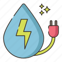 energy, water, water energy icon
