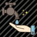 save water, saving, water icon
