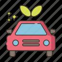 hybrid car, zero emission icon