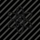 atom, molecule, nuclear icon