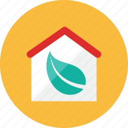 eco, house icon