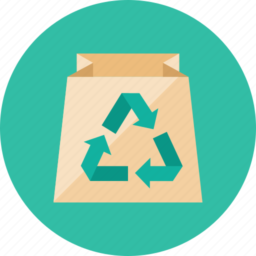 bag, recycle icon