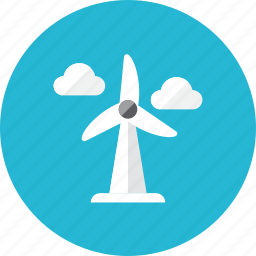 wheel, wind icon
