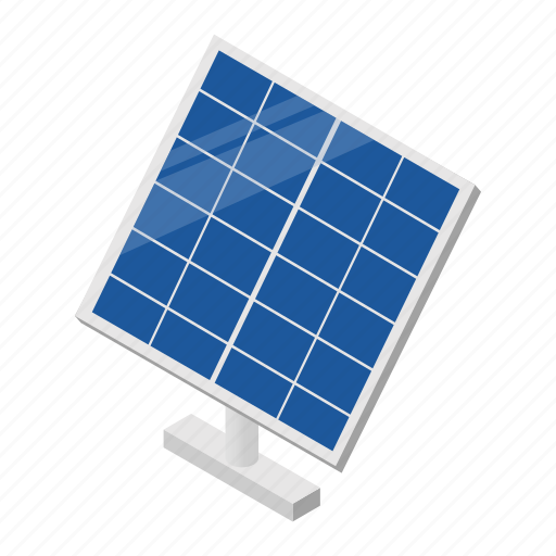 energy, isometric, panel, power, solar, sun, technology icon