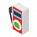 diesel, eco, gas, isometric, petrol, pump, station icon