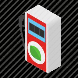 diesel, eco, gas, isometric, petrol, pump, station icon