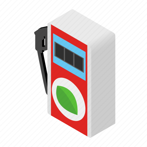 Diesel, eco, gas, isometric, petrol, pump, station icon - Download on Iconfinder