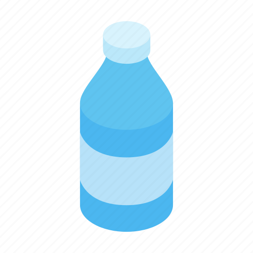 bottle, drinking, health, isometric, plastic, pure, water icon