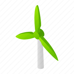 concept, electric, generator, power, rotation, tower, windmill icon