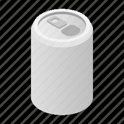aluminum, blank, can, cold, isometric, liquid, soda icon