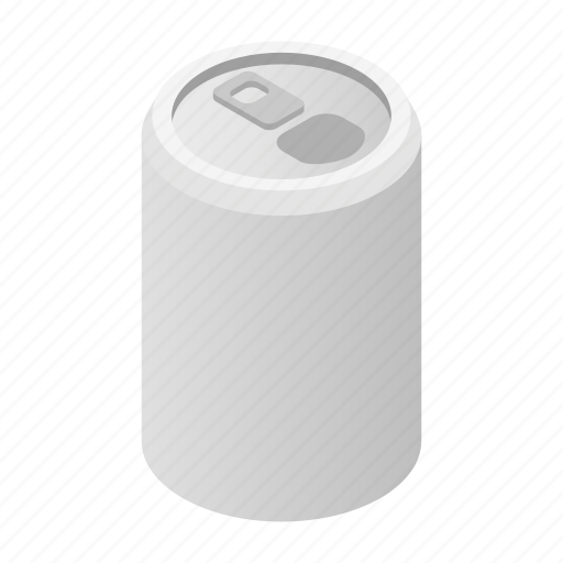 aluminum, blank, can, cold, isometric, liquid, soda icon