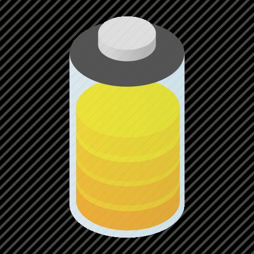 Load, isometric, full, art, power, battery, energy icon