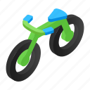 absorber, activity, athlete, bicycle, bike, biking, isometric icon