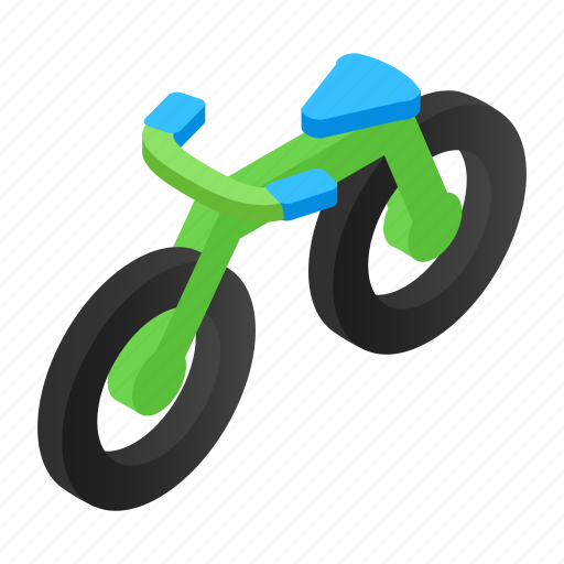 Absorber, activity, athlete, bicycle, bike, biking, isometric icon - Download on Iconfinder