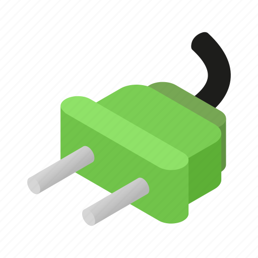 electric, electricity, isometric, plug, power, socket, wire icon