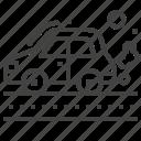 car, fuel, fumes, vehicle icon