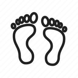 body, feet, foot print, human feet, man, sand, walk icon