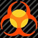 alert, biohazard, dangerous, eco icon