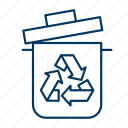 bin, conservation, environment, recycle, trash, waste icon
