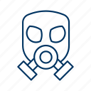 biohazard, environment, harmful, hazardous, mask, toxic, virus icon
