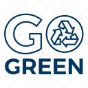 ecology, environment, go green, recycle icon