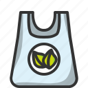 bag, eco, ecommerce, plastic, recycled, shop, shopping icon