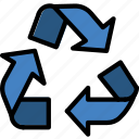ecology, enviorment, nature, recycling, sign icon