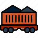coal, ecology, enviorment, nature, train icon