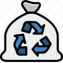 ecology, enviorment, nature, recycle, trash icon