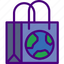 bag, ecology, green, planet, pollution, recycle icon