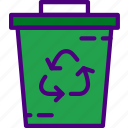container, ecology, green, nature, planet, pollution, recycle icon