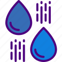 ecology, green, nature, planet, pollution, raindrops icon