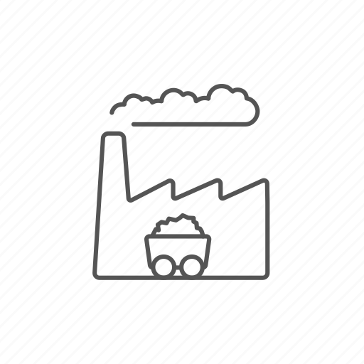 atmosphere, clouds, coal, dust, factory, hazard, plant icon
