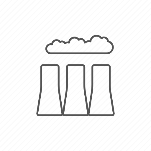 ecology, environment, factory, industrial, pipes, pollution, smoke icon