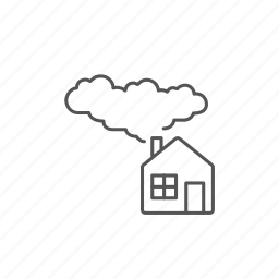 alternative, eco, ecological, energy, guardar, house, save, smoke icon
