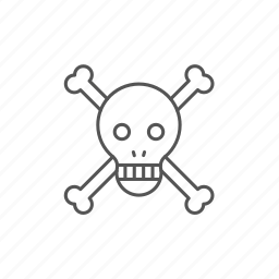 bones, danger, disaster, harmful, pirate, skull, warning icon