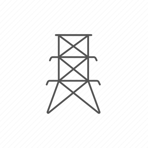 electric, electricity, energy, line, pole, tower, voltage icon