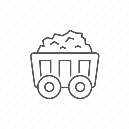 cart, coal, fossil, heavy, mine, mining, wagon icon