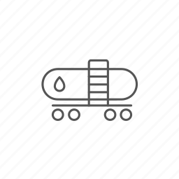 fuel, gas, oil, railway, tank, tanker, wagon icon