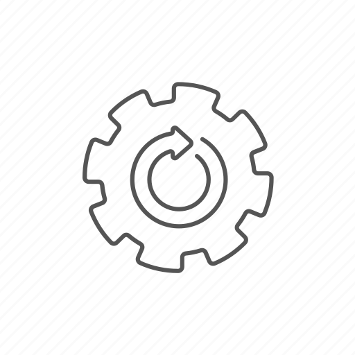 circular, cycle, ecological, ecosystem, gear, recycle, rotation icon