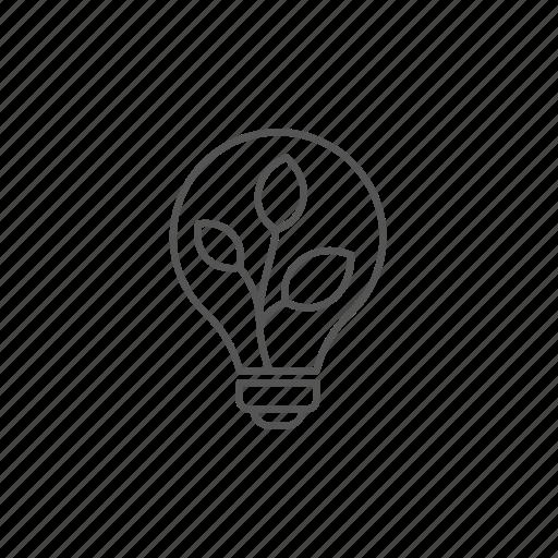 concept, ecology, lightbulb, plant, rescue, saving icon