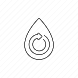 circular, drop, eco, environmental, nature, technology, water icon