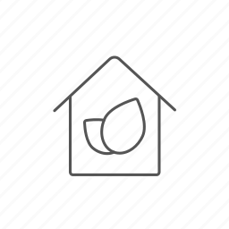 building, ecofriendly, ecological, house, leaf, lifestyle, nature icon