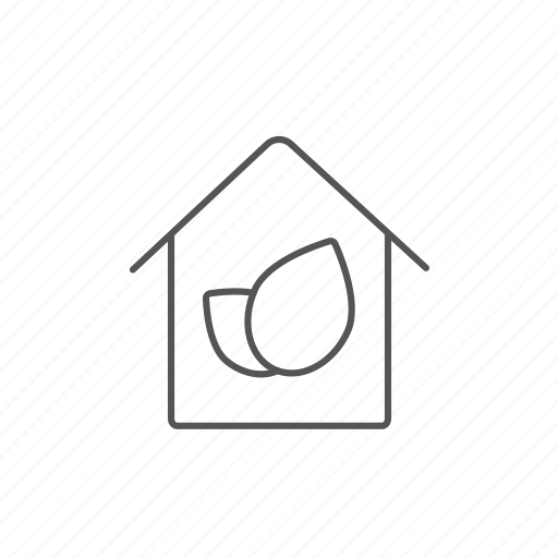 building, ecofriendly, ecological, house, leaf, lifestyle, nature icon